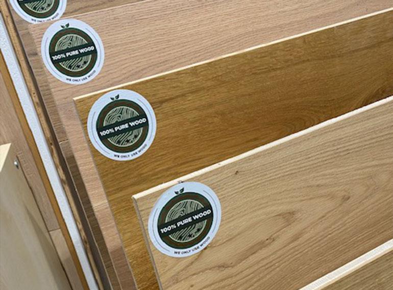 Heinks Ausstellung Holz Muster